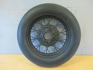 Wire Wheel 19 Model A Ford 5 On 5 1 2 Bolt Circle Antique Firestone Tire