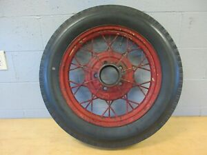 Wire Wheel 19 Model A Ford 5 On 5 1 2 Bolt Circle Antique Bedford Tire