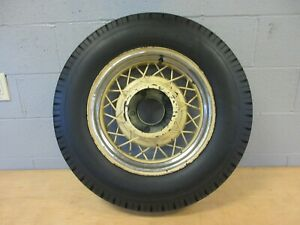 Wire Wheel 16 1935 Ford 5 On 5 1 2 Bolt Circle Antique Cities Service Tire