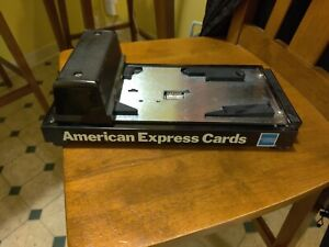 Manual Credit Card Imprint Machine American Express Cards Nice Condition