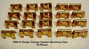 1966 1967 66 67 Dodge Charger Quarter Top Moulding Clip Set