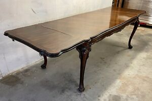 French Antique Louis Xv Draw Leaf Dining Table C1865