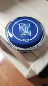 Rare Blue Nardi Classic Steering Wheel Horn For Torino Wheels Navy Jdm Used
