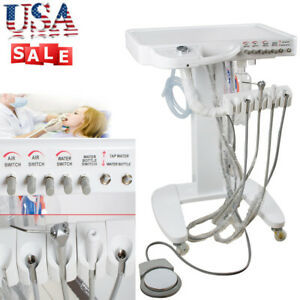 4 hole Dental Delivery Mobile Cart Unit Equipment No Compressor Tool Fda Usa
