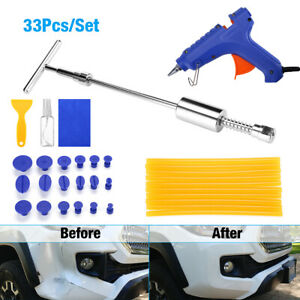 Dent Puller Slide Kit Auto Body Repair Paintless Dent Removal Hail Tools Kit