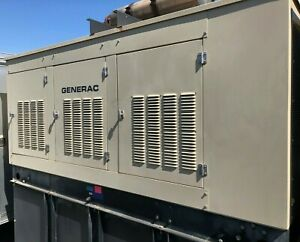 Generac Commercial Standby Diesel Generator 120 208v 3ph 130kw 451amp W Tank