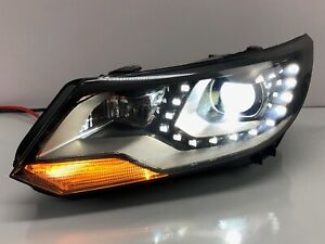 12 17 Volkswagen Tiguan Driver Left Lh Side Led Xenon Hid Headlight Oem