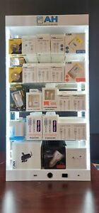 5 Shelves Cell Phone Acceesory Led Light Counter Display With Tester