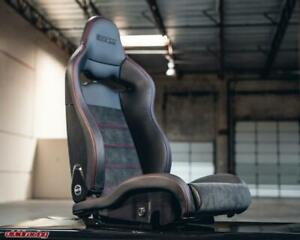 Sparco Spx Special Edition Right Side Red Stitching W Gloss Shell Seat Rails