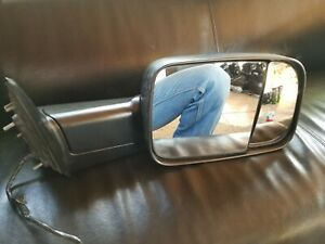 2011 2012 Dodge Ram 1500 2500 Tow Flip Mirror With Power Heated Manual Passenger