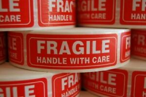 1000 Per Roll 1 X 3 Fragile Handle With Care Shipping Label Handling Stickers
