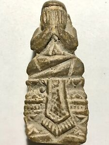 Phra Pidta Lp Boon Rare Old Thai Buddha Amulet Pendant Magic Ancient Idol 846