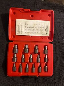 Snap On Screw Stud Extractor Set Rex15b Torx Sockets In Storage Case X15