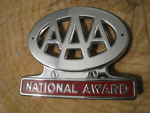 Vintage 1953 Aaa National Award Plate Topper