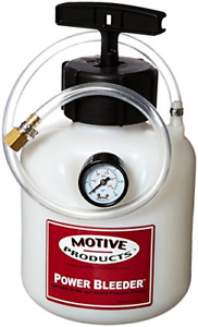Motive Products European Power Brake Bleeder 0100 Hand Pump Pressure Tank