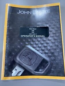 John Deere 240 And 250 Skid Steers Operator s Manual Omkv18668 J1