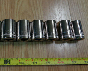 Made In Usa Craftsman 1 2 Drive Large Metric Socket Set 17mm 22mm 6pc New