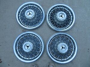 Vintage Set 15 Wire Hubcap Wheel Cover Gm Chevy Buick 1980 S Oem
