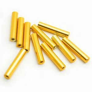 10pcs M2x20mm Aluminum Spacer Standoff gold Anodized