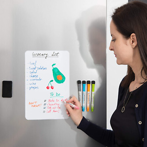 Small Magnetic Dry Erase Board For Fridge 12x8 Inch