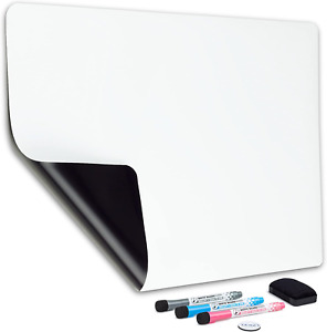 Magnetic Dry Erase Whiteboard Sheet For Fridge 19x13 In With Stain Resistant T