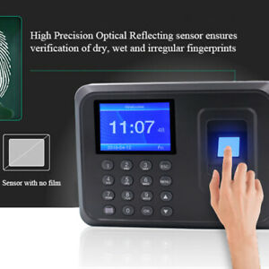 1 Pc Fingerprint Time Clock Password Durable Punch Time Clock For Hotel Factory