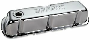 Moroso 68202 Valve Cover Tall Moroso Logo Steel Chrome For Ford Sb 2pc New