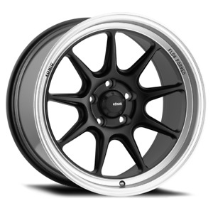 Konig Countergram 15x8 4x100 Et25 Matte Black Machined Lip 4 Wheels