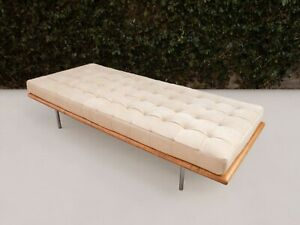 Mid Century Modern Tufted Leather Daybed 1960 S