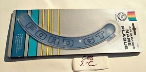 Vintage Cal Custom Ford Gt Air Cleaner Name Plaque