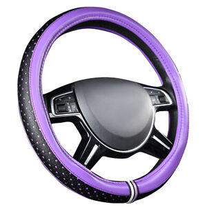 Carpass Car Steering Wheel Cover Leather Purple Color 5 Stars Anti slip For Cars