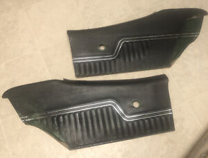 1970 72 Chevelle Ss Black Rear Interior Door Panels Pair Gm Originals 8768337l r
