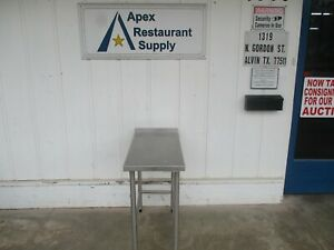 All Stainless Table With 1 1 2 Backsplash 18 X 36 X 35 5586