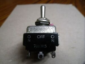 vintage Toggle Switch Quadruple Pole Double Throw qpdt On on
