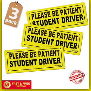 Magnet Car Signs Student Driver Reflective Vehicle Bumper Stickers New Drivers