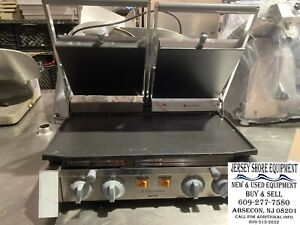 Electrolux Double Commercial Panini Press W Cast Iron Smooth Plates 220v 1ph