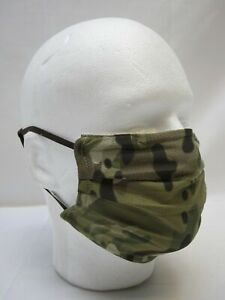 ARMY OCP MULTICAM FACE MASK COVERING MESH FABRIC BREATHABLE ADJUSTABLE WASHABLE $12.95