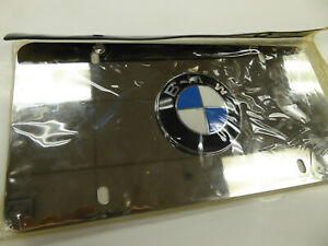 Bmw Marque Plate Chrome W logo Front License Plate Replacement