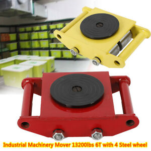 6t Machinery Mover Dolly Skate Roller Transport Cart Base Mover For Warehouse