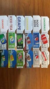 Flavor Strips 12oz Can Pepsi Coke Soda Vending Machine 18 Labels
