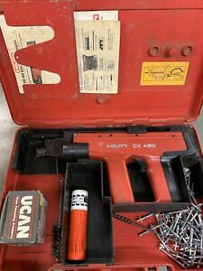 Hilti Dx 450 Powder Actuated Fastener Nailer Used In Concrete Or Steel With Case