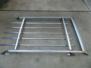 Vintage Chrome Roof Luggage Rack Wing Wagon Chevy Pontiac Buick Surf Ski 70s 80s