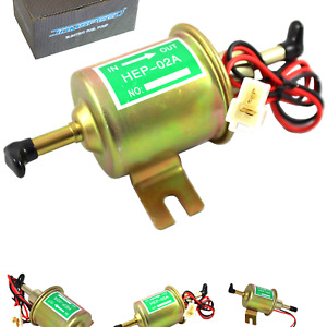 Jdmspeed Universal 12v Heavy Duty Electric Fuel Pump Metal Solid Petrol 12 Vo