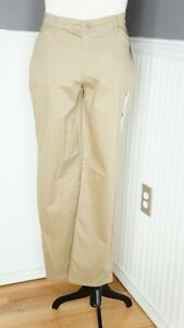 Lee All Day Pant Size 8M Straight Leg Relaxed Fit Flexible Waistband Beige NWT $18.99