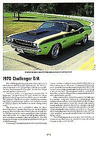 1970 Dodge Challenger T a Article Must See