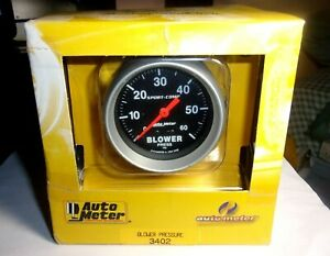 Autometer 3402 Sport Comp 2 5 8 Blower Pressure Gauge 60 Psi Turbo Diesel Boost
