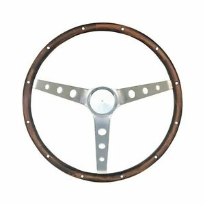 Grant 966 Mustang Steering Wheel Universal Fit Stainless Steel Walnut Finish New