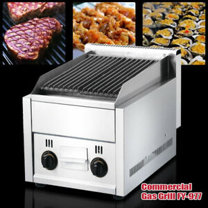 Commercial Restaurant Gas Gril Heavy Duty Grill Flat Top Countertop Food Grill