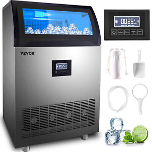 Vevor 200 Lbs Built in Commercial Ice Maker Ice Cube Machine Transparent Window
