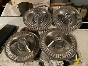 1964 Ford Galaxie 500 Xl 14 Hubcaps Set Of 4 1961 1962 1963